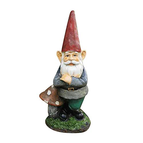 Kariwell Whimsical Naughty Garden Gnome, Naughty Garden Gnome Garden Decoration Statue White Old Man,Small Outdoor Gnome, Funny Garden Figurines for Outdoor Home Yard Decor 9.65inch