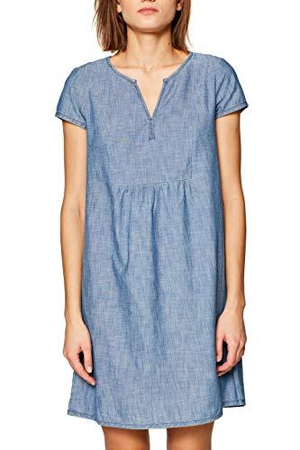 edc by ESPRIT Damen 039CC1E013 Kleid, Blau (Blue Medium Wash 902), (Herstellergröße: M)