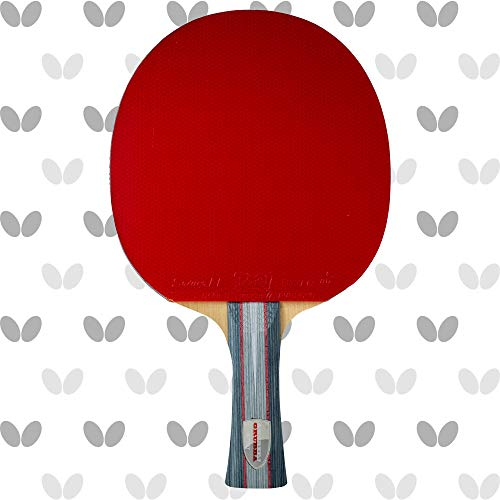 Butterfly Andrzej Grubba Blade & Sriver EL Rubber Shakehand Table Tennis Racket - Pro-Line Series - Controlled, Balanced Attack From Both Sides - Recommended For Advanced Level Players
