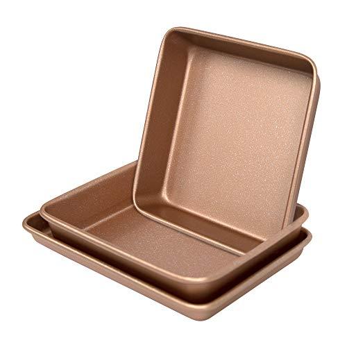 casaWare 3-teiliges Backgeschirr-Set für Toaster, aus der Ultimate Serie, kommerzielles Gewicht (Rotgold Granit)