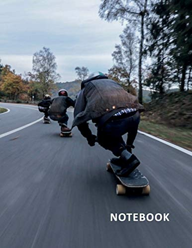 College Ruled Notebook: Longboard cruiser for beginners Excellent Student Composition Book Daily Journal Diary Notepad for researching best longboard for carving and cruising