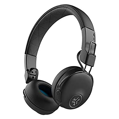 JLab Audio Studio Noise Cancelling Headphones, Wireless Headphones with EQ3 Custom Sound and 34+ Hour Bluetooth 5 Playtime, 28+ Hour Active Noise Cancelling Playtime, Black by Jlab
