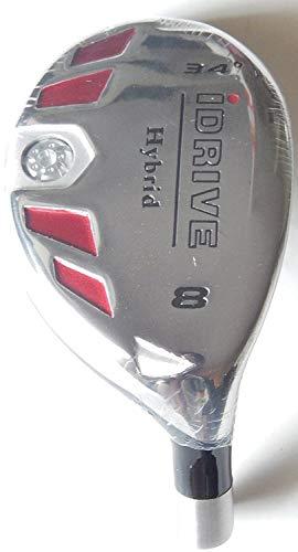 New Integra I-Drive Hybrid Golf Club #8-34° Right-Handed with Graphite Shaft, U Pick Flex (Graphite, Senior)