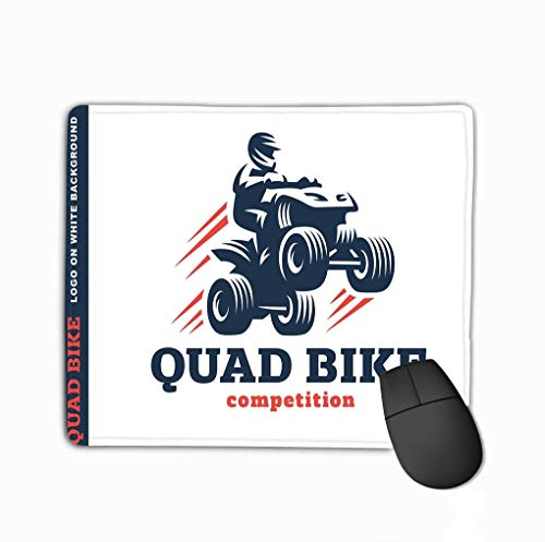 Gaming Mouse Pad Benutzerdefiniert, Persönlichkeit Desings Gaming Mouse Pad Quad Fahrrad Wettbewerb Logo Design Weiß Hintergrund Zeichnung