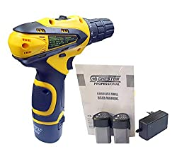 Cheston 10 mm Dual Speed Keyless Chuck 12V Cordless Drill/Screwdriver with 2 Batteries, LED Torch Variable Speed and Torque Setting (19+1),Cheston,CHESTON CORDLESS DRIL