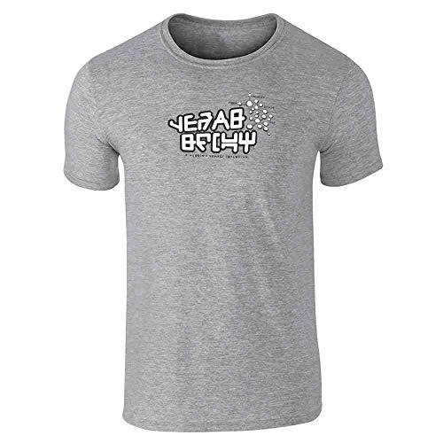 Galactic Gear Shift Nerd Geek Halloween Costume Gray L Graphic Tee T-Shirt for Men
