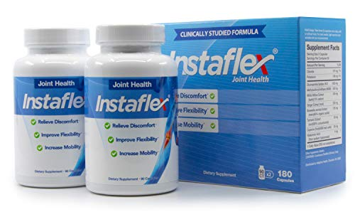 Instaflex Joint Support - Clinically Studied Joint Relief Blend of Glucosamine, MSM, White Willow, Turmeric, Ginger, Cayenne, Hyaluronic Acid - 2 Pack, 180 Capsules