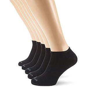 s.Oliver – Calcetines cortos opacas unisex, pack de 5, talla 43/46 – talla alemana, color negro 005