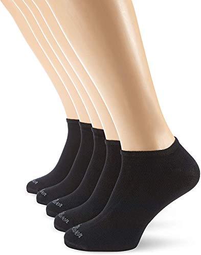 s.Oliver Socks Damen S24118 Sneakersocken, Blickdicht, Schwarz (05 black), 35-38 (5er Pack)