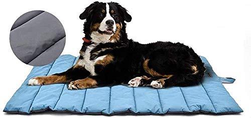 Cama Perro Impermeable Colchoneta Almohada Relajante Perro 110x66cm Camas para Perros Colchón Perros Viscoelastica Cojines Lavable Impermeable para Perros Medianos-Azul