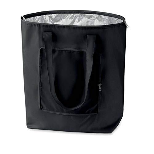 PromotionGift Kühltasche für Einkauf faltbar (schwarz)