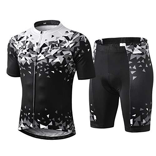 INBIKE Ropa Ciclismo Hombre Verano Trajes de Ciclismo Equipacion Bicicleta Maillot MTB+ Culote Bicicleta 3D Badana Gel(M)