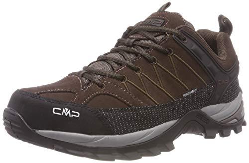 CMP Herren Rigel Low Shoes Wp Trekking- & Wanderhalbschuhe, Braun (Wood-Adriatico 61bn), 42 EU