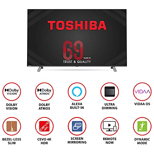 Toshiba 126 cm (50 inches) Vidaa OS Series 4K Ultra HD Smart LED TV 50U5050 (Black) (2020 Model) | With Dolby Vision and ATMOS 2