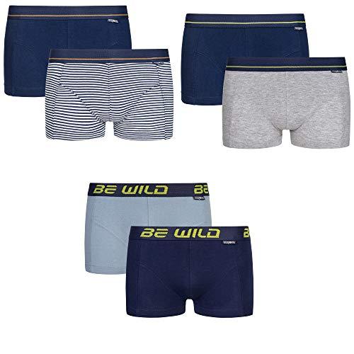 C&C KIDS Jungen Unterhosen,6 Pack,116, Boxershorts/Blau/Gra
