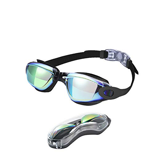 Swim Goggles, Swimming Goggles No Leaking Anti Fog UV Protection Swim Goggles with Free Protection Case for Adult Men Women Youth Kids, Multi-Choice