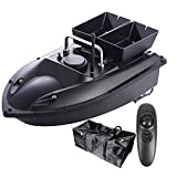 HXSD Barco de Cebo de Pesca RC con Control Remoto para Carpas, buscador de Peces de Carga de 1,5 kg con Bolso, Crucero de Velocidad Constante de 2 Motores,Black Bag