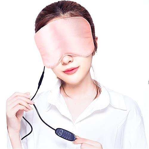 Guoyajf Beheizte Augenmaske, USB-Augenmaske Mit Temperatur- Und Timer-Steuerung, Warmes Eye Compress-Heizkissen...