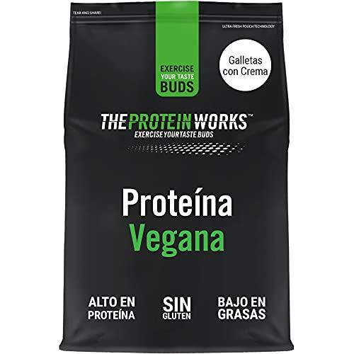 Proteina Vegana In Polvere | 100% A Base Vegetale E Naturale | Senza Glutine | Cruelty Free | Frullato A Basso Contenuto Di Zuccheri | THE PROTEIN WORKS | Panna & Biscotti | 500g