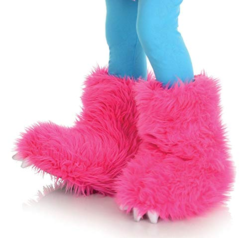 Underwraps - Kinder Fell Plüsch Monster Stulpen - Überzieher pink - Einheitsgröße