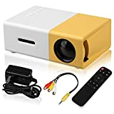 EEEKit Mini Projector Portable Full HD 1080P Movie Video Projector Supported for Kids Gift, Home Theatre, Compatible with Smartphone/Laptop/ PS4