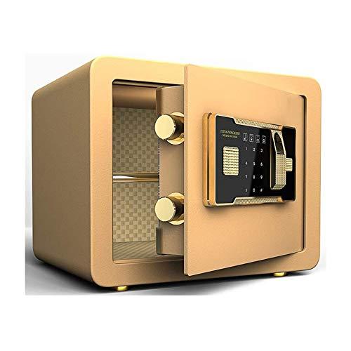 DJDLLZY Gabinete cajas de seguridad electrónica de huellas dactilares Doble bloqueo de teclas digitales de la tarjeta electrónica digital de alta seguridad de acero hogar seguro guardar objetos de val