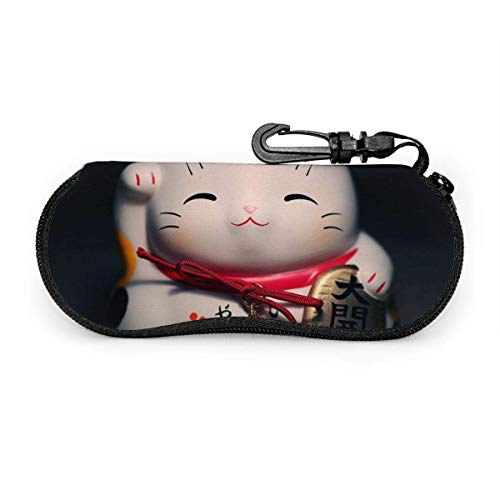 Cool Giraffe Soft Eyeglass Case For Women Men Cute Maneki Neko Cat