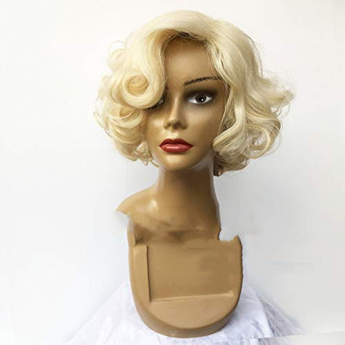 Marilyn Monroe Perücke Gold weiblich kurzes lockiges Haar hellgoldene Perücke durch WIG MINE
