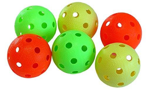 Realstick Floorball / Unihockey Ball 6er Set, Color Mix