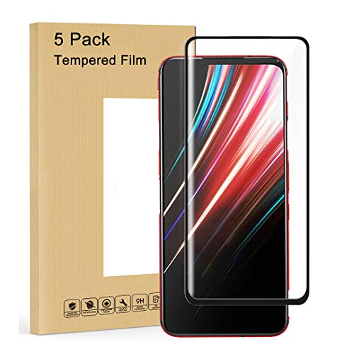 LJSM Protector de Pantalla para ZTE Nubia Red Magic 5G [5 Piezas] Vidrio Templado Proyectar película Protectora Cristal Templado Film para Red Magic 5G (6.65