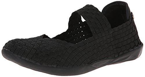 Bernie Mev Women's Cuddly Mary Jane Flat, Black, 38 EU/7.5-8 M US