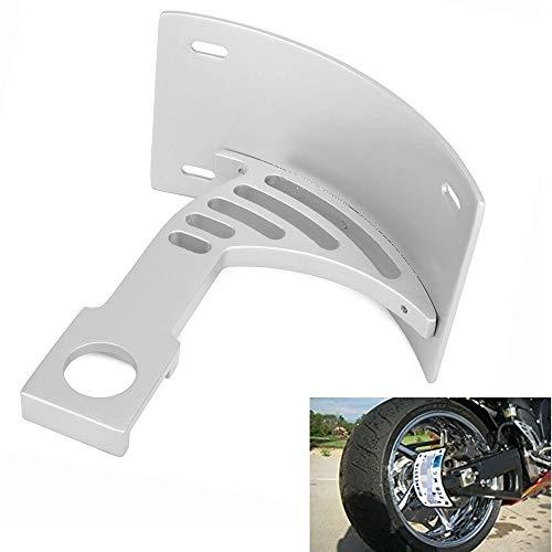JFG RACING Support de plaque d'immatriculation de moto incurvé pour Yamaha YZF-R1 1998–2003, YZF-6RS 1998–2002