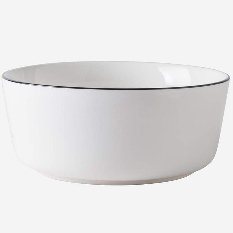 Tazón de Sopa de cerámica Tazón de Fideos caseros Tazón de arroz Tazón de Ensalada Tazón de Postre Postre (Color   blanco, Talla   7.5X12.9X17.8CM)