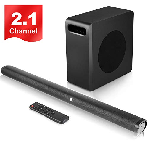 """SPARKWAV 140 Watts Sound Bar with Wireless8""""Subwoofer,Bluetooth 5.0 Soundbar for TV,Support HDMI/Optical/USB/AUX/RCA Input,Fit for TV/PC/Phone/Tablet/Projector/Home Theater"""