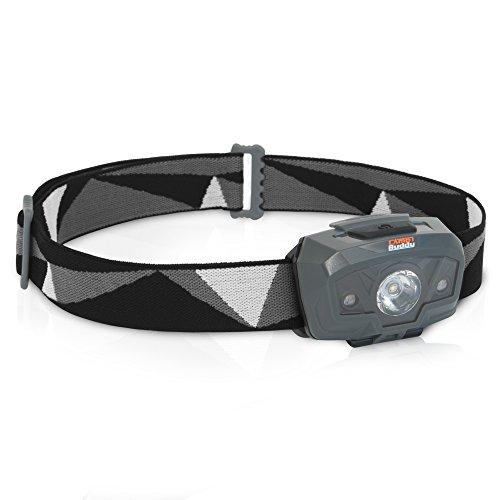 CampBuddy LED Stirnlampe, 230 Lumen, Kopflampe mit Rotlicht, Inklusive Batterien, für Kinder geeignet, Wasserdicht, Ideal zum Laufen, Angeln, Joggen und Camping