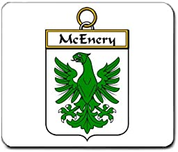 McEnery or McHenry Family Crest Coat of Arms Mouse Pad