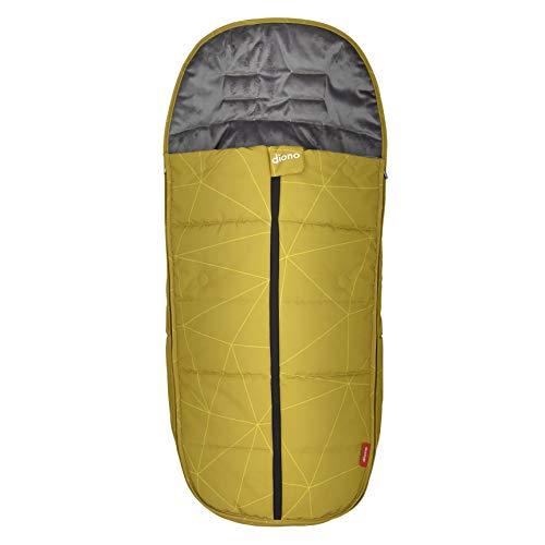 Diono All Weather Footmuff, wetterfester Fußsack zum Schutz Ihres Babys in Kindersitzen und Kinderwägen, Gelber Schwefel
