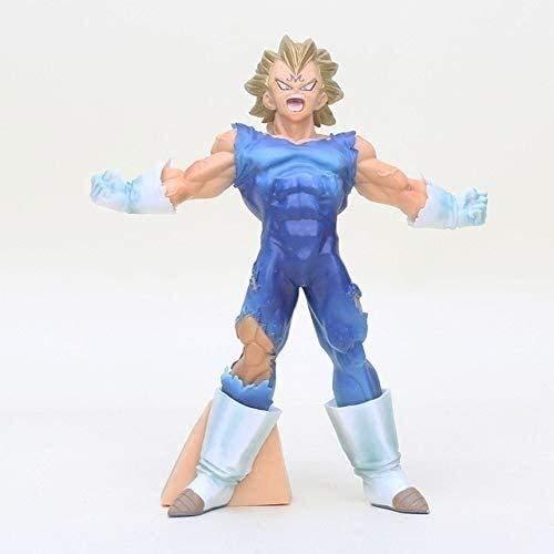 WANGSHAOFENG 18cm Anime Bos Blut von Saiyans Super Saiyan Blue Hair Sohn Goku Vegata PVC Abbildung Sammlung Spielzeug, Gold Haar Goku Tasche, Vegeta OPP Bag Dragon Ball (Color : A)