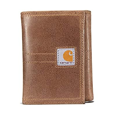 Carhartt Men's Legacy Trifold Wallet, black, One Size
