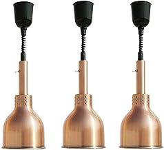 CHOUREN 3 pack portable Chauffe-plat, cuisine en acier inoxydable avec chauffage Lampe Warmers Ampoule chaleur infrarouge ...