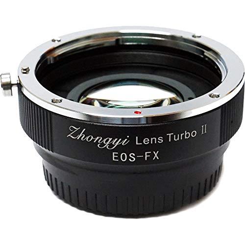 Zhongyi ef-fx Lens Turbo Adapter II Mark 2Ersatz von Canon EF Mount für Fuji X FX-Kamera (schwarz)