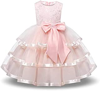 Flower Girl Party Dress Girls Elegant Tulle Wedding Princess Gown Pageant Dresses Girls Tutu Dress Pastel Princess Girls B...