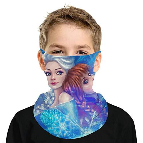 Fr-ozEn El-Sa Summer Cooling Neck Gaiter with Ear Loops Anti Dust Bandana Mask Lightweight for Kids Boys Girls