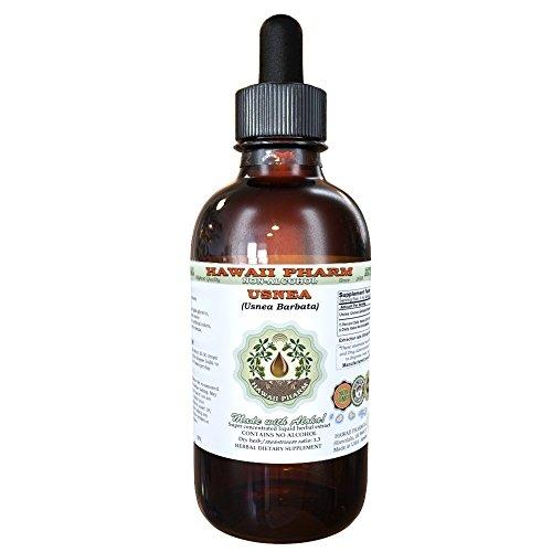 Usnea Alcohol-Free Liquid Extract, Usnea (Usnea barbata) Dried Thallus Glycerite Natural Herbal Supplement, Hawaii Pharm, USA 2 fl.oz
