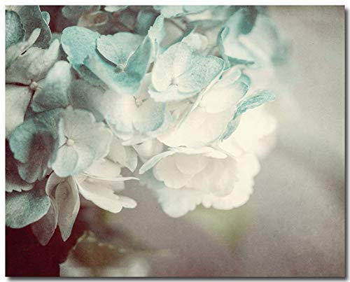 """Teal Shabby Chic Cottage Decor 8x10"""" Print (Not Framed). French Country Hydrangea Nature Photography. (FBA810)"""