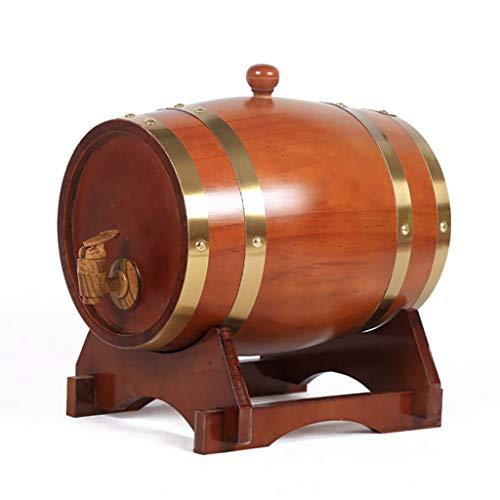 KXBYMX Barril de Roble del Vino, Barril de Cerveza del Barril de Vino de la decoración del hogar del Barril de Vino Rojo del Vino Blanco de 3L-30L (Tamaño : 10L)