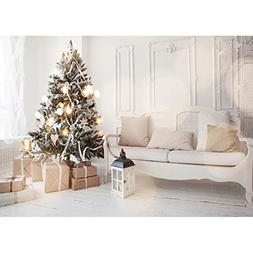 Fondo de fotografía de Tema de Navidad de Vinilo árbol de Navidad Retrato de niño fotografía Accesorios de Disparo de Estudio A11 10x10ft / 3x3m