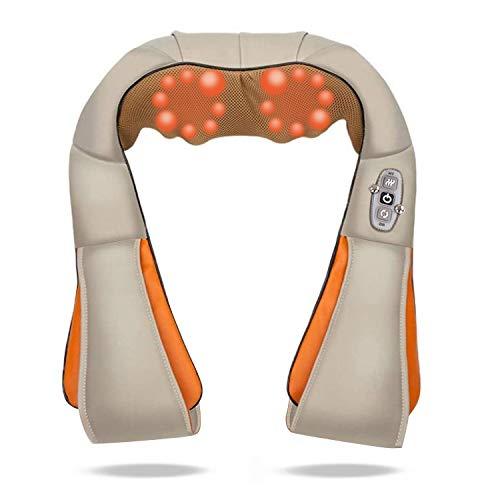 Hengda® Elektrische Schultermassage Rückenmassage Nackenmassagegerät Shiatsu Massage, 8 rotierende Massageköpfe, Infrarot