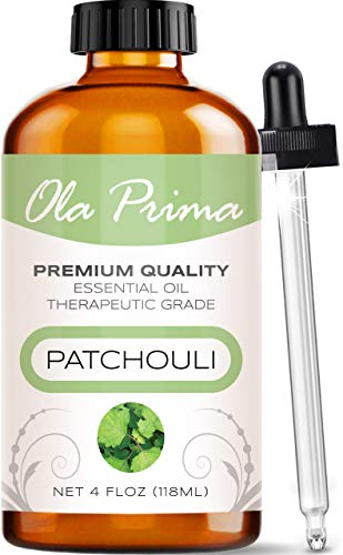 Ola Prima 4oz - Premium Quality Patchouli Essential Oil (4 Ounce Bottle) Therapeutic Grade Patchouli Oil