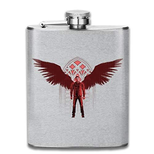 Dean Wings Supernatural Flachmann, Taschenflasche, Flagon, Edelstahl, 200 ml